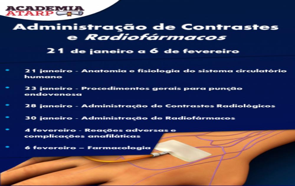 Curso Online - Administração de Contrastes e Radiofármacos
