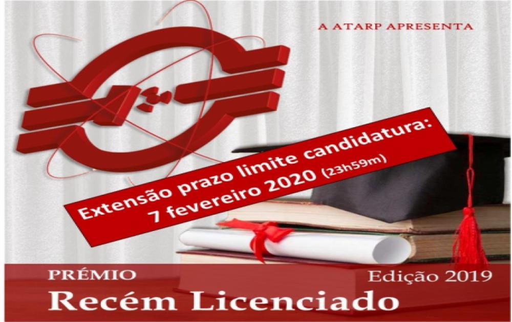 Prémio Recém Licenciado ATARP - extensão prazo candidatura