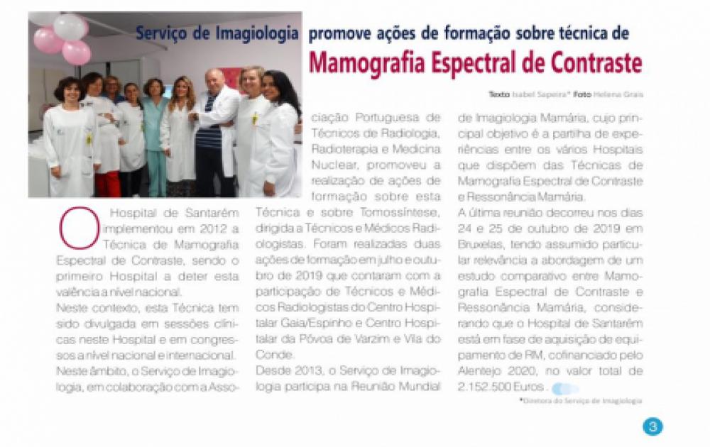 Formação em Mamografia Espectral de Contraste com o apoio da ATARP