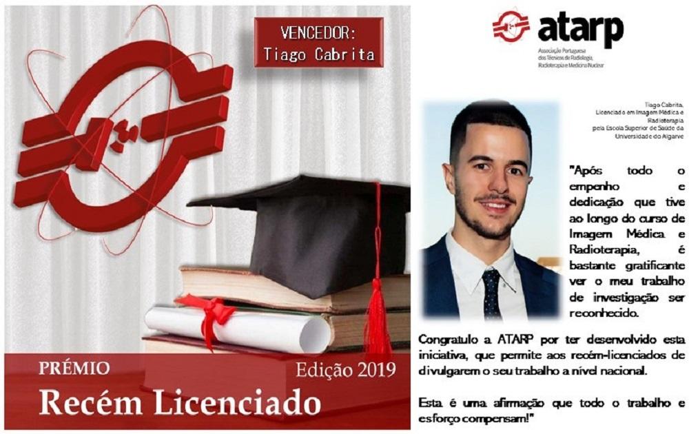 Vencedor Prémio Recém Licenciado ATARP - Edição 2019